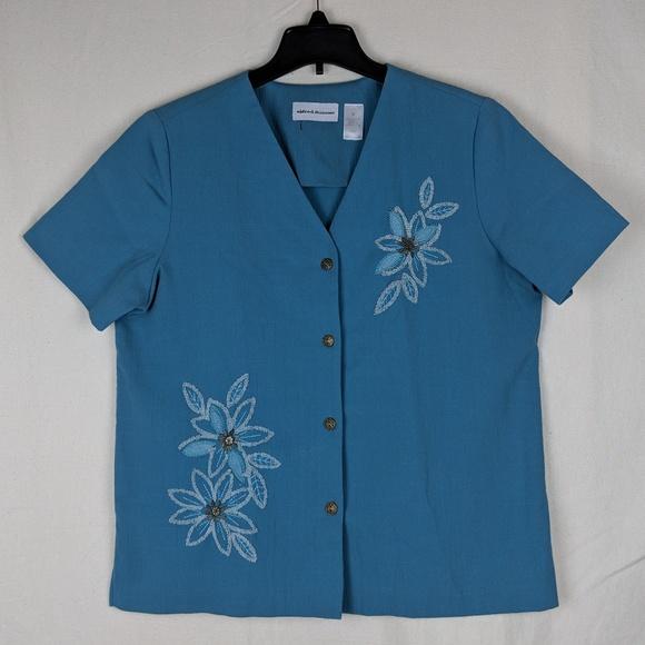 e1bee16b9ffc2 Alfred Dunner Tops - ALFRED DUNNER Women s Blouse Size 12 Short Sleeve